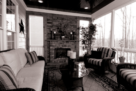 Reward Builders - Covered Porch and Fireplace